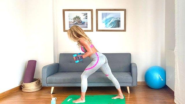 Sesión de Pilates | 50 min | En casa ...