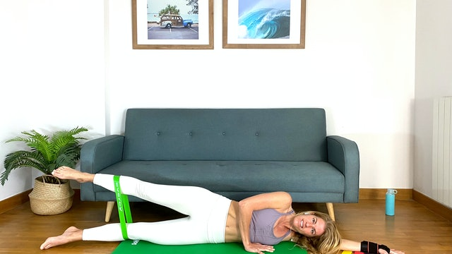 Ju. 10:00 Pilates: glúteos y piernas | 50 min | Con Elisa Riveres