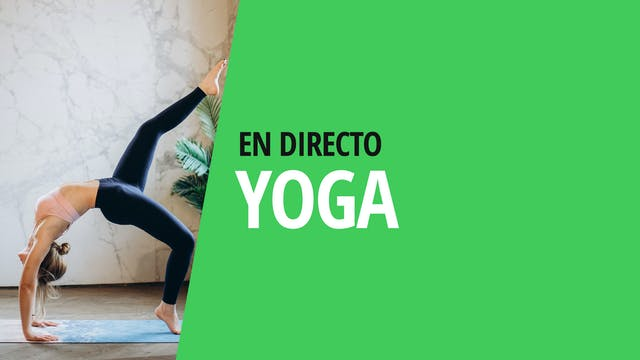 Lu. 19:00 Yoga: fuerza | 60 min | Con...