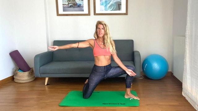 Pilates en casa | 50 miin | Clase con Elisa Riveres