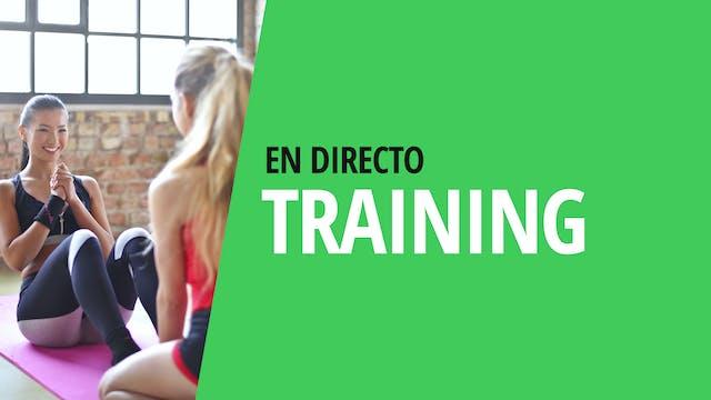 Ma. 18:00 Training: piernas y glúteos...