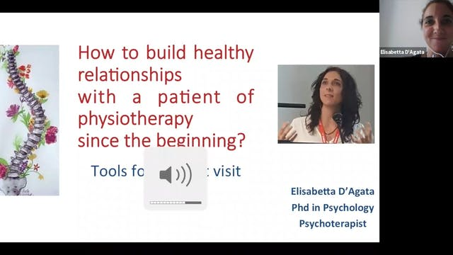 Webinar with Dr, D'Agata Webinar-Healthy relationships with scoliosis patients