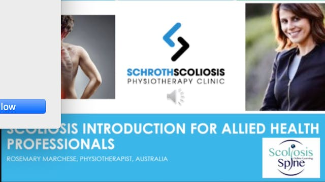 Scoliosis Introduction For Allied Heath Professionals by Rosemary Marchese, PT