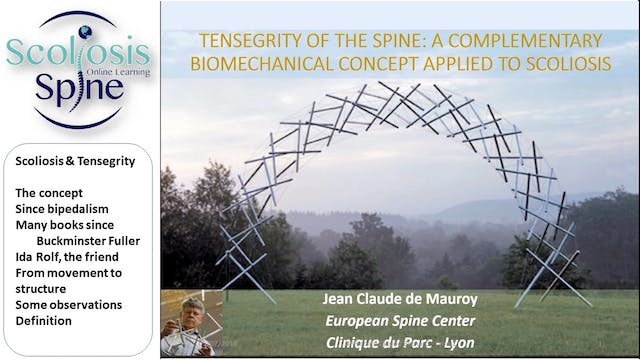 Tensegrity & Scoliosis by Dr. Jean-Claude de Mauroy