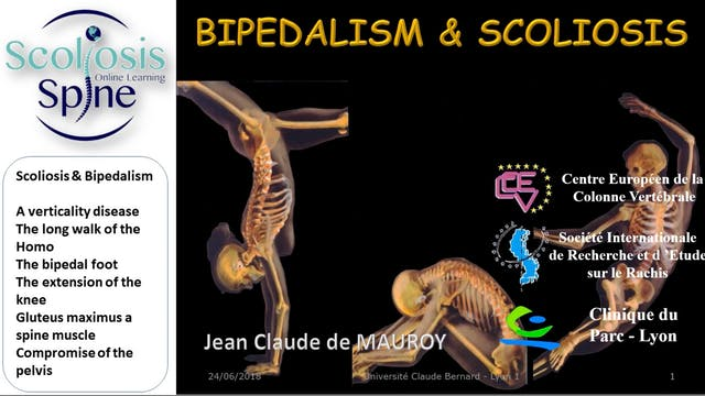 Scoliosis and Bipedalism by Dr. Jean-Claude de Mauroy