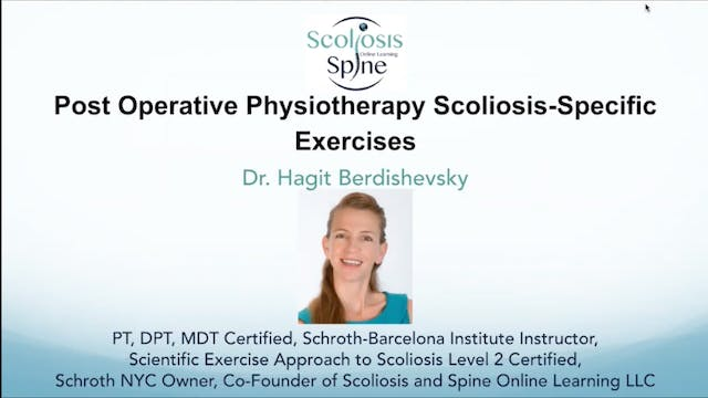 Webinar: PostOp Physio Scoliosis Specific Exercise