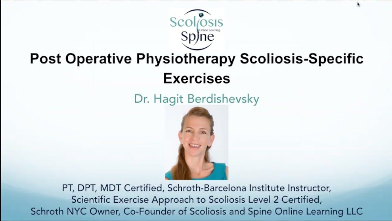 Webinar: PostOp Physio Scoliosis Specific Exercise
