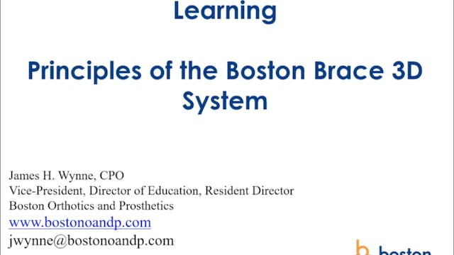 Principles of the Boston Brace 3D System