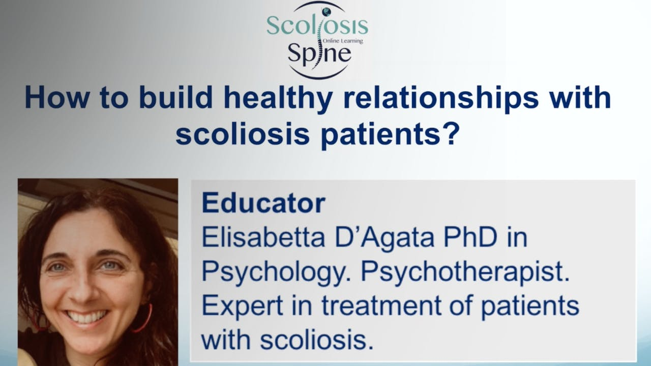Healthy relationships with scoliosis patients?