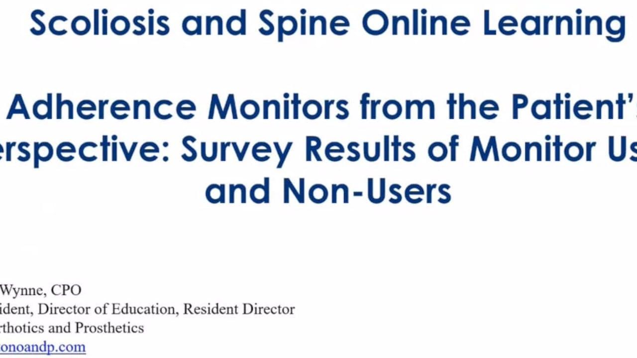 Boston Brace Adherence Monitors