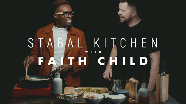 Stabal Kitchen with Faith Child