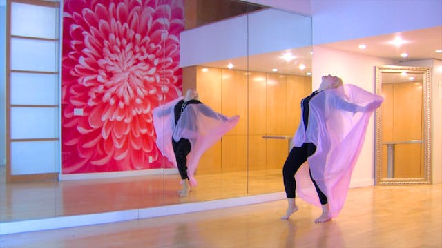 'Miserlou' Belly Dance Veil Choreography - with Neon