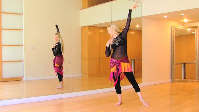 Spinal articulation technique for bellydance poses