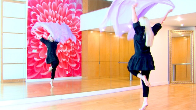 'Miserlou' Belly Dance Veil Choreography - Class 2 with Neon