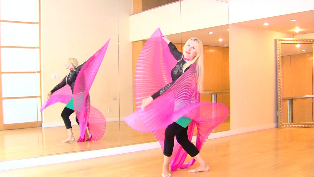 Belly Dance with Wings Course with Neon