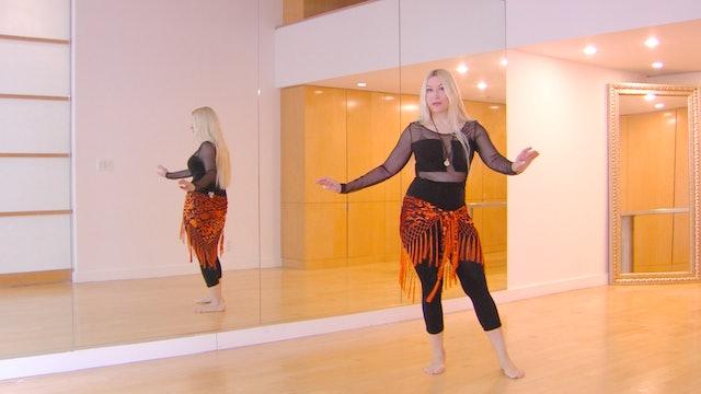 Belly dance baladi rhythm with Neon