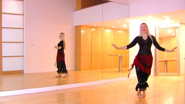 Belly dance travel - triplets and 3/4 shimmy steps