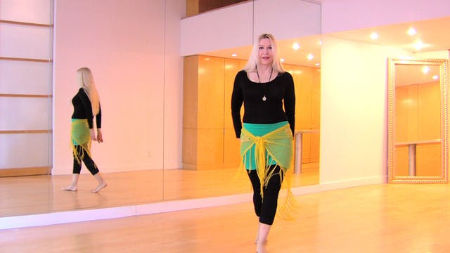 Belly dance Fluid Hipwork Precision Drills - Neon