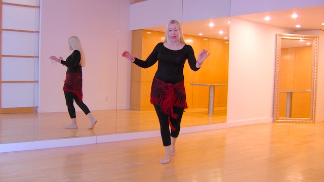 Belly Dance Shimmy Layering with Neon