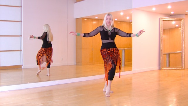 Belly Dance Twisting Undulation - PRACTICE ONLY