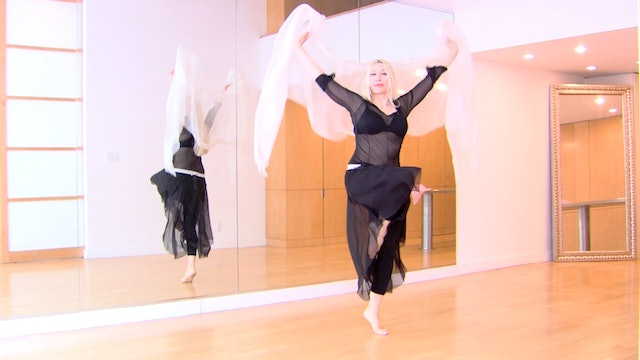 Belly Dance Circle Veil Routine with Neon