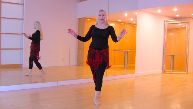 Belly Dance Shimmy Layering Step-by-Step with Neon