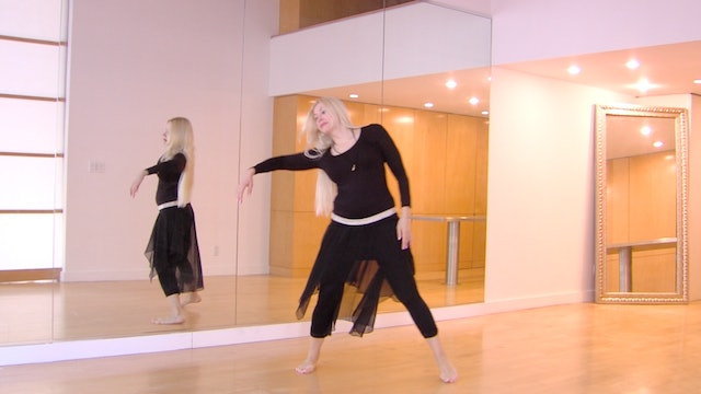 Full body belly dance moves drills with Neon