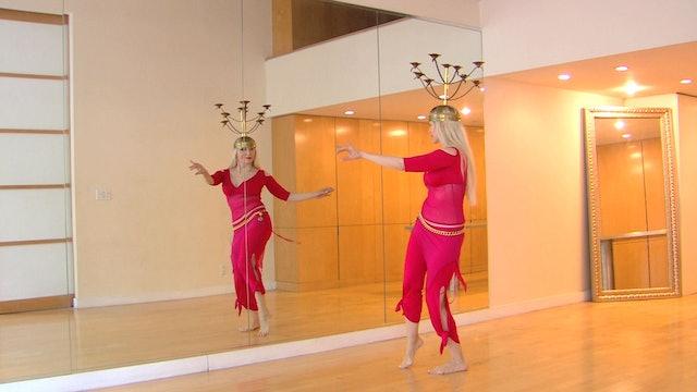 Belly Dance Candelabrum/Shemadan - class 1 - Neon
