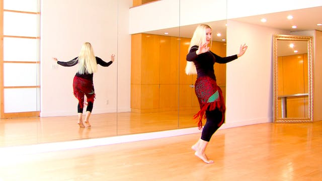 Party-Style Belly Dance Performance: Combinations and Showmanship with Neon