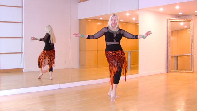 Twisting Undulation Belly Dance Technique - Neon