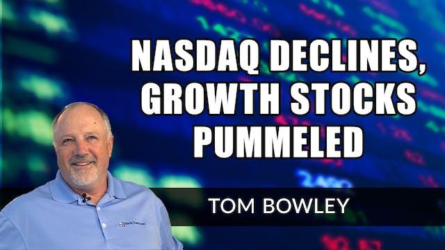 NASDAQ Declines As Growth Stocks Pumm...