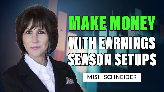Make Money With Earning Season Setups | Mish's Market Minute (10.15)