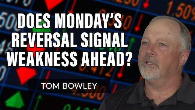 Does Monday's Reversal Signal Weakness Ahead?   Tom Bowley (08.03)