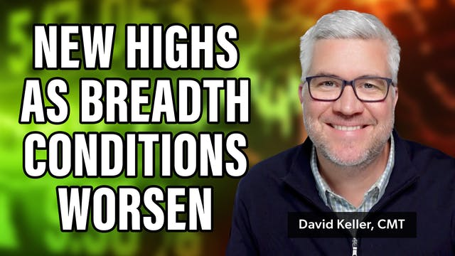 New Highs as Breadth Conditions Worse...