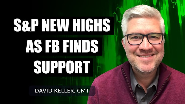 S&P New Highs as FB Finds Support | David Keller, CMT (10.25)