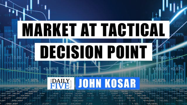 Market At A Tactical Decision Point |...