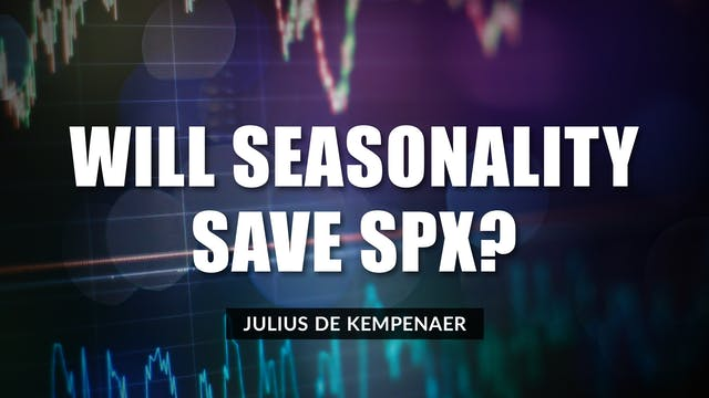 Will Seasonality Save SPX? | Julius d...