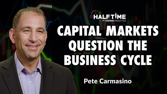 Capital Markets Question The Business...