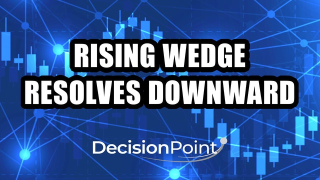 Rising Wedge Resolves Downward (01.04)