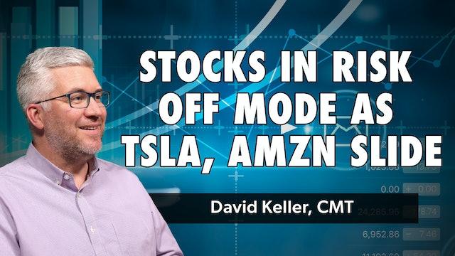 Stocks in Risk Off Mode as TSLA, AMZN Slide | David Keller, CMT (05.10)