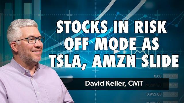 Stocks in Risk Off Mode as TSLA, AMZN...