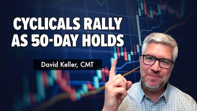 Cyclicals Rally as 50-Day Holds | David Keller, CMT  (07.21)