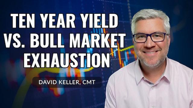 Ten Year Yield vs. Bull Market Exhaustion | David Keller, CMT (09.23)