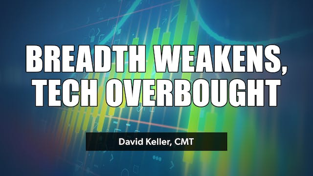 Breadth Weakens, Technology Overbough...