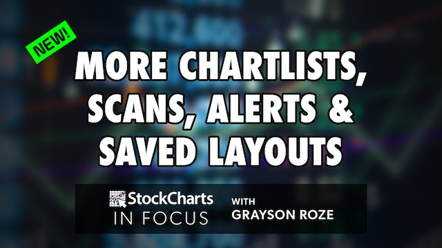 NEW! More ChartLists, Scans, Alerts & Saved Layouts   Grayson Roze