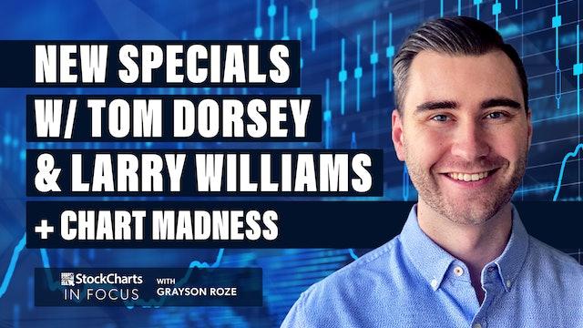 "New Specials w/ Tom Dorsey & Larry Williams + ""Chart Madness""   Grayson Roze"