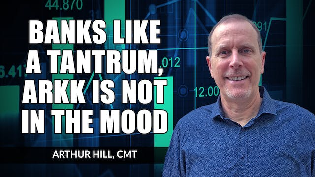 Banks Like a Tantrum, but ARKK Is Not...