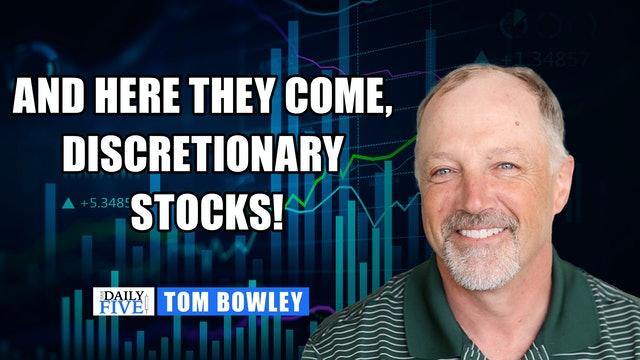 Here Comes Discretionary Stocks! | Tom Bowley  (09.24)