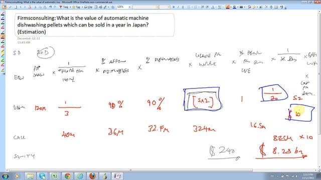 25 Estimation Estimate the value of a...