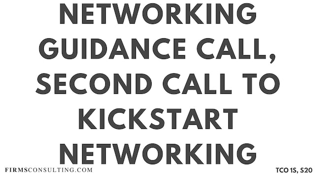 N3 Networking Guidance Call, Sanjeev Session 20, Second Call to Kickstart Sanjeev's Networking